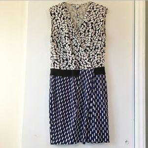 DVF Silk Jersey Drape Dress